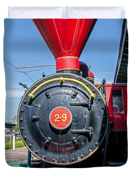 Chattanooga Choo Choo Steam Engine Duvet Cover by Susan  McMenamin