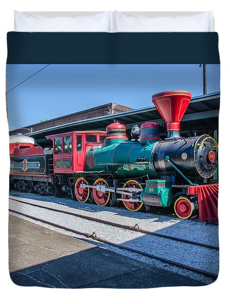 Duvet Cover featuring the photograph Chattanooga Choo Choo by Susan  McMenamin