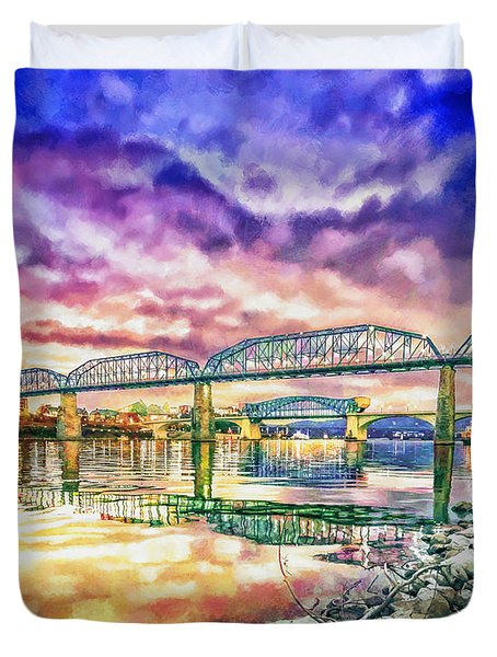 Chattanooga Reflection 1 Duvet Cover