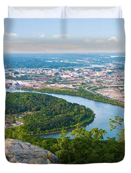 Chattanooga Spring Skyline Duvet Cover