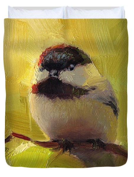 Chatty Chickadee - Cheeky Bird Duvet Cover