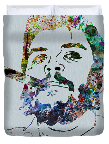 Che Watercolor Duvet Cover by Naxart Studio