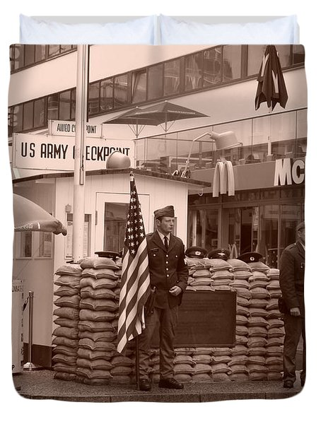 Check Point Charlie Duvet Cover