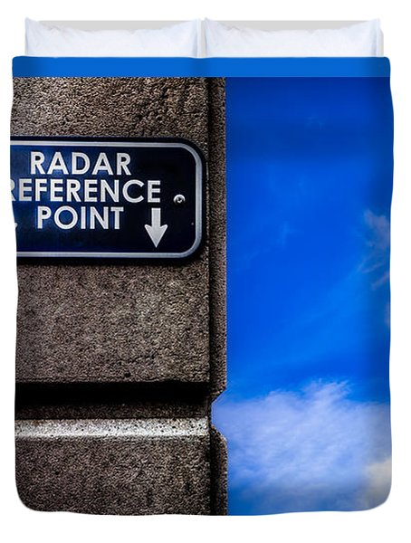 Check Your  Radar Here Duvet Cover by Bob Orsillo