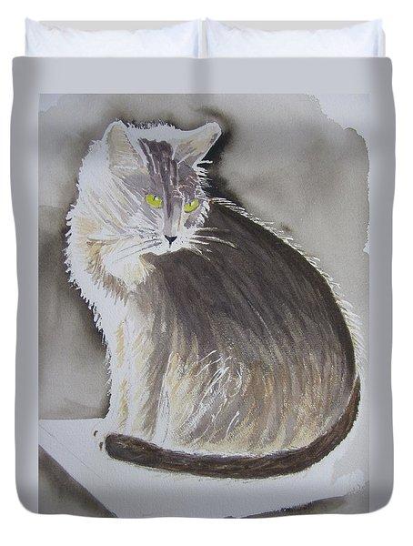 Cheeky Cat  Duvet Cover by Elvira Ingram