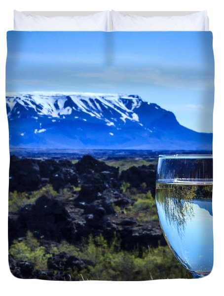 Cheers To Iceland Duvet Cover