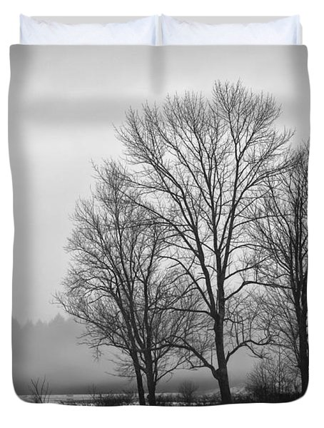 Cheese House Road Trees Duvet Cover