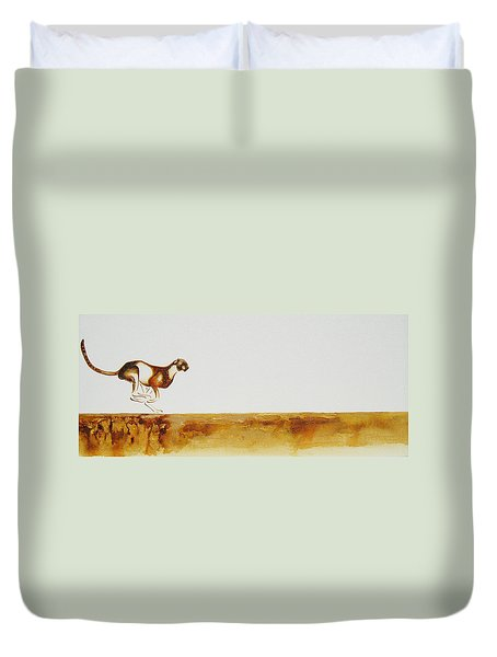 Cheetah Race - Original Artwork Duvet Cover