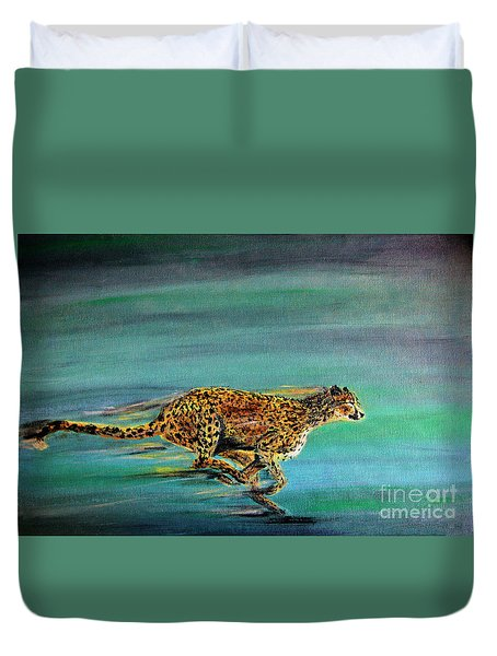 Cheetah Run Duvet Cover