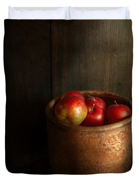 Chef - Fruit - Apples Duvet Cover by Mike Savad