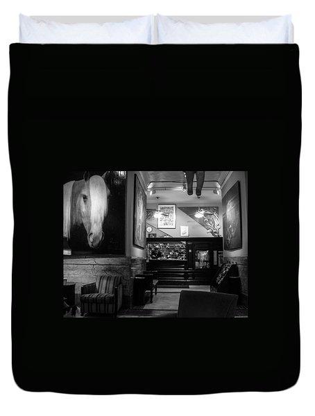 Chelsea Hotel Night Clerk Duvet Cover