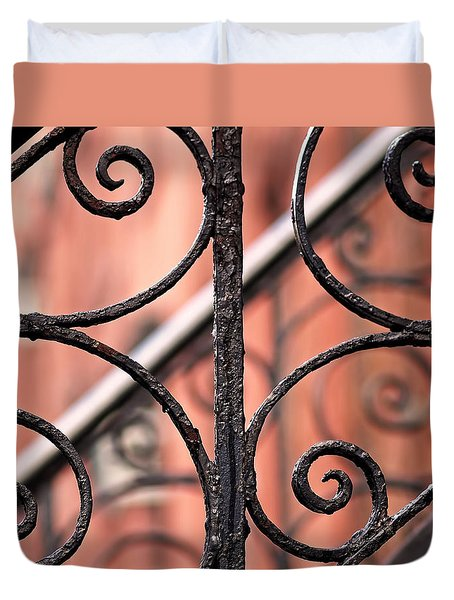 Chelsea Wrought Iron Abstract Duvet Cover
