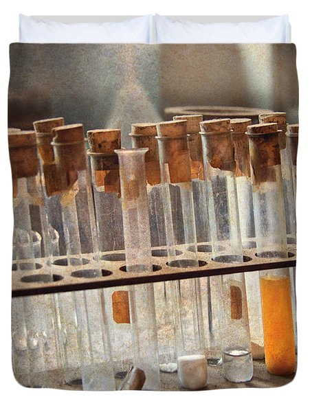Chemist - Specimen Duvet Cover by Mike Savad
