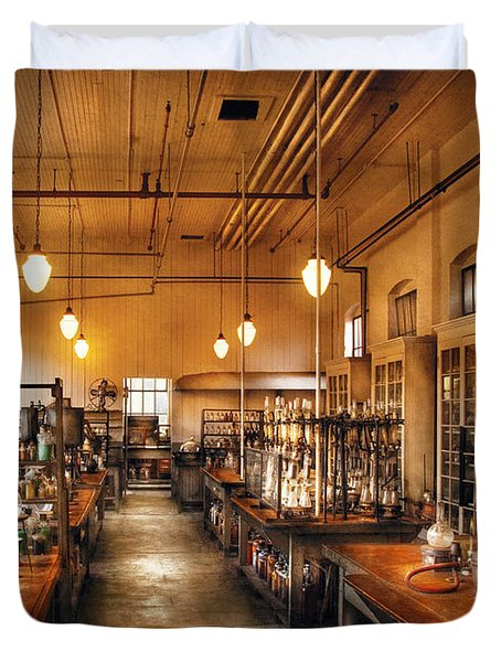 Chemist - The Chem Lab Duvet Cover by Mike Savad