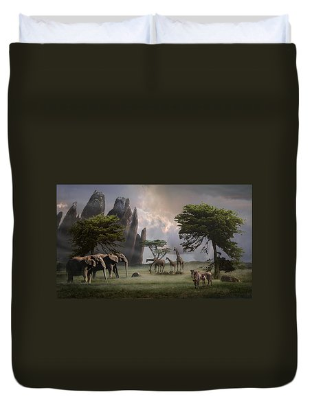 Cherish Our Earth's Creatures Duvet Cover