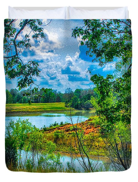 Cherokee Lake Tennessee  Duvet Cover by Bob and Nadine Johnston