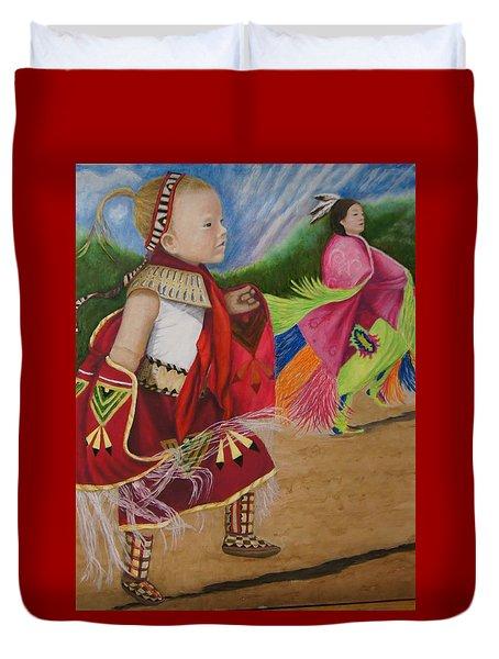 Cherokee Ribbon Dancers Duvet Cover
