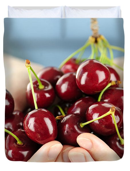 Cherries Duvet Cover by Elena Elisseeva