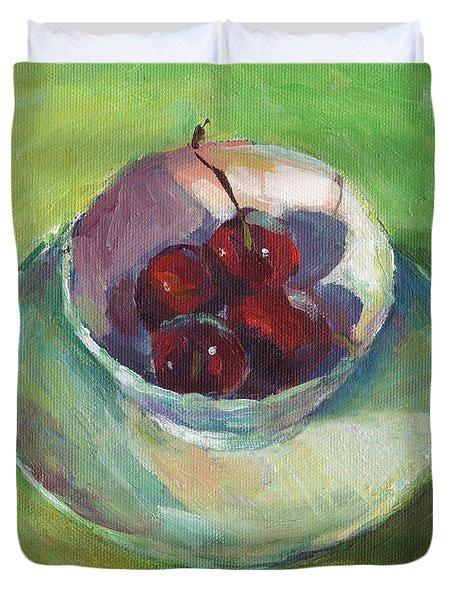 Cherries In A Cup #2 Duvet Cover by Svetlana Novikova