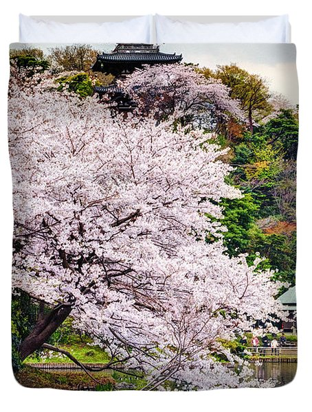 Duvet Cover featuring the photograph Cherry Blossom 2014 by John Swartz