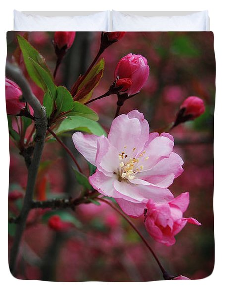 Duvet Cover featuring the photograph Cherry Blossom by Eva Kaufman