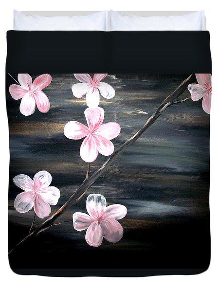 Cherry Blossom  Duvet Cover by Mark Moore