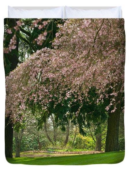 Cherry Blossom Duvet Cover by Sabine Edrissi