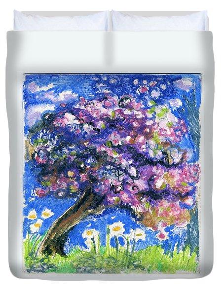 Cherry Blossom Spring. Duvet Cover