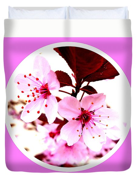 Cherry Blossom Duvet Cover by The Creative Minds Art and Photography