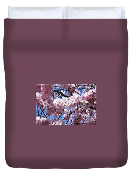 Cherry Blossom Trees Of Branch Brook Park 3 Duvet Cover