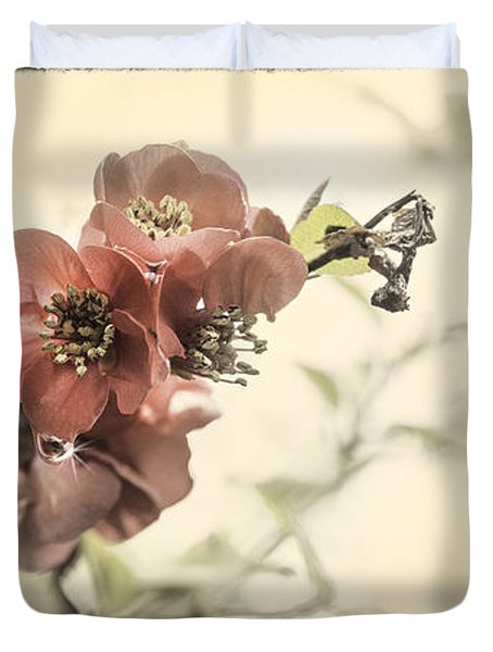 Duvet Cover featuring the photograph Cherry Blossoms by Peter v Quenter
