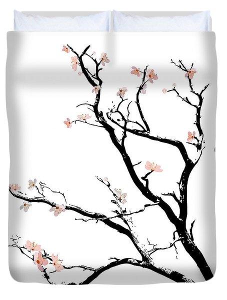 Cherry Blossoms Tree Duvet Cover