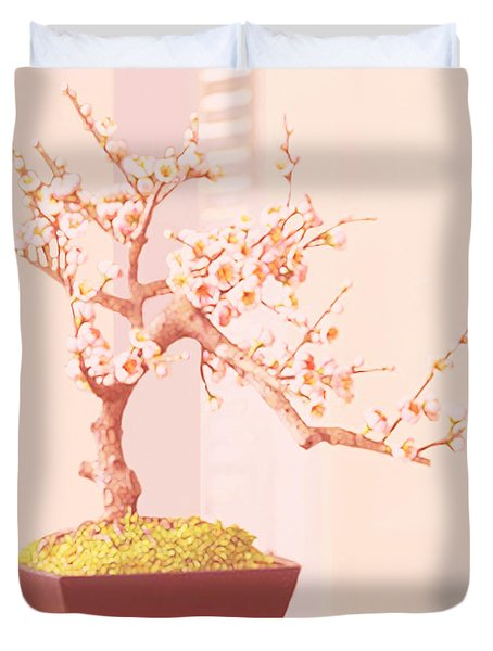 Cherry Bonsai Tree Duvet Cover