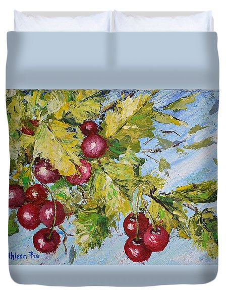 Cherry Breeze Duvet Cover