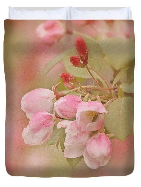 Cherry Buds Duvet Cover by Kim Hojnacki