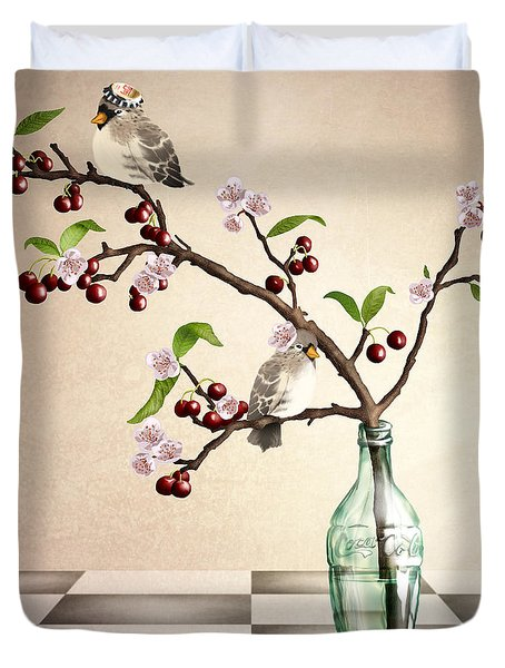 Cherry Coke Duvet Cover