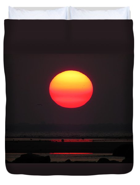 Duvet Cover featuring the photograph Cherry Drop Sunrise by Dianne Cowen