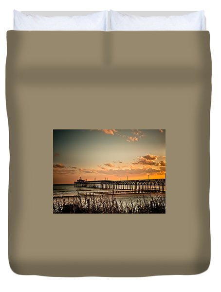 Cherry Grove Pier Myrtle Beach Sc Duvet Cover