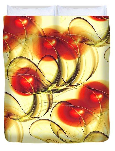 Cherry Jelly Duvet Cover by Anastasiya Malakhova