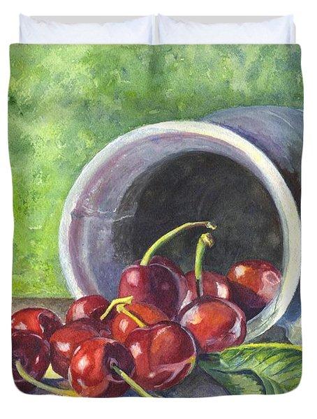 Cherry Pickins Duvet Cover