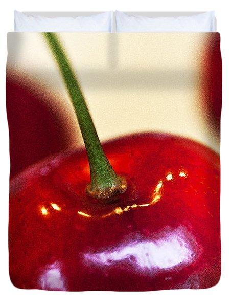 Cherry Still Life Duvet Cover by Heiko Koehrer-Wagner