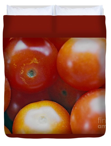 Duvet Cover featuring the photograph Cherry Tomatoes by Cassandra Buckley