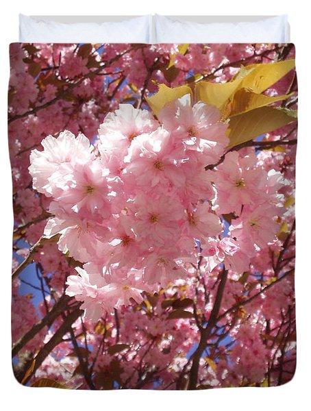 Cherry Trees Blossom Duvet Cover
