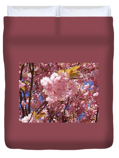 Cherry Trees Blossom Duvet Cover