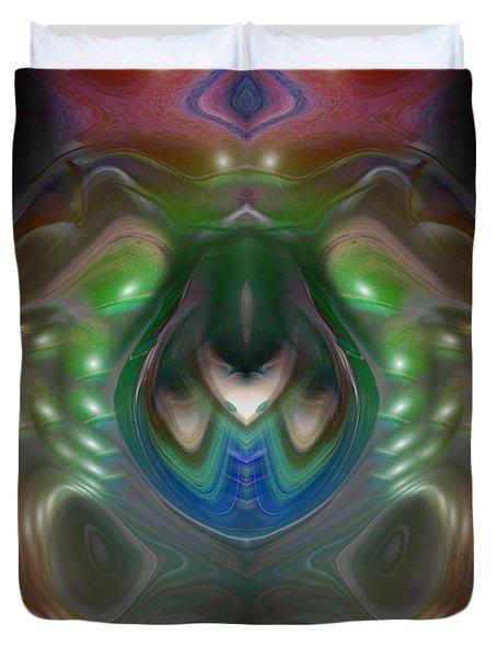 Duvet Cover featuring the digital art Cherub 5 by Otto Rapp