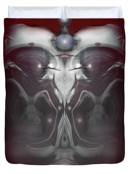 Duvet Cover featuring the digital art Cherub 7 by Otto Rapp