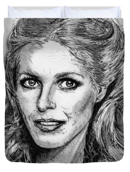 Cheryl Ladd In 1977 Duvet Cover by J McCombie