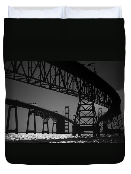 Chesapeake Bay Bridge At Annapolis Duvet Cover
