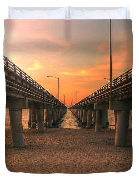 Chesapeake Bay Bridge IIi  Duvet Cover