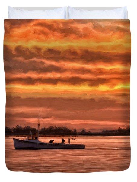 Chesapeake Watermen Duvet Cover